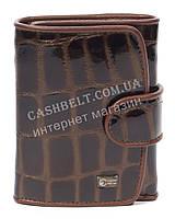 Лаковый женский кожаный кошелек высокого качества COZZNEE art. 38305 коричневый, фото 1