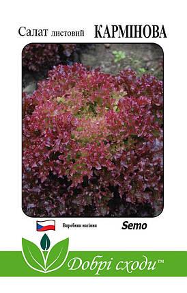 Семена салата Карминова 30шт, фото 2