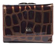 Лаковый женский кожаный кошелек высокого качества COZZNEE art. 38511 коричневый, фото 1