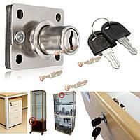 Ящик стола неисправный замок ригельный стрелочный для группы шкафов кабинета коробки ящиков с двумя ключами