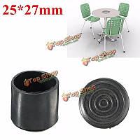 Черные резиновые трость стул рама протектор наконечники