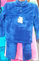 Теплая пижама синего цвета