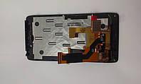 Дисплей  (экран) Motorola XT925, XT926 с черным сенсором и рамкой original.