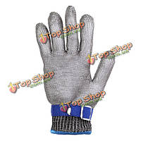 Тил проволока металлическая сетка перчатка Safety порезов Sвкладка резистентный Stainless S5-го класса S