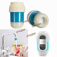 Мини-кран очиститель воды фильтр активированный уголь 6.5 х 4 см