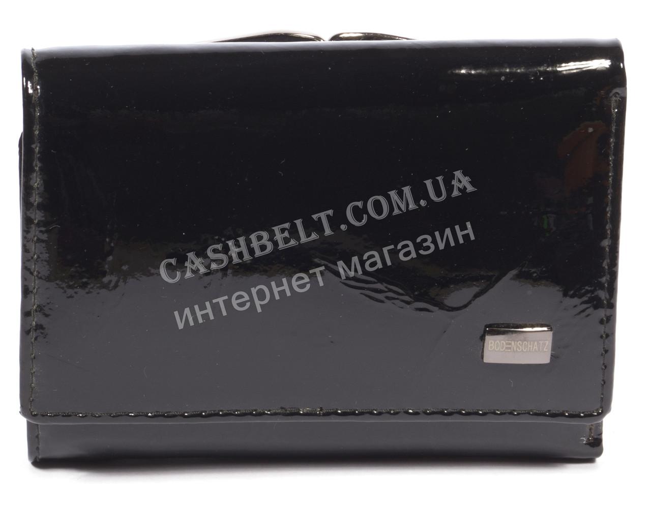 Лаковый женский кожаный кошелек высокого качества BODENSCATZ art. 2239T-A85 черный