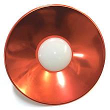 Лампа LED IP65 + метал. отражатель 10W E27 800LM 6500K красный/ LM708