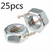 25шт M8 метрических Hexagonal стали Полное гайки стандарт гальваническим шаг цинк-сталь