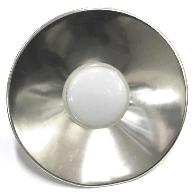 Лампа LED IP65 + метал. отражатель 24W E27 1920LM 6500K серебро/ LM710