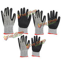 Безопасность защитные перчатки металлической сетки порезостойкие анти истиранию для наружной обработки