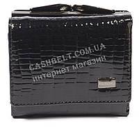 Маленький лаковый женский кожаный кошелек высокого качества BODENSCATZ art. 2186-67 черный