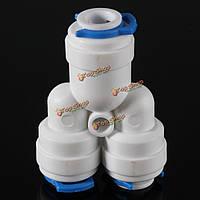 1/4-дюймов трубопроводная арматура у очистителя воды соединительная система обратного осмоса с 3-мя застежками