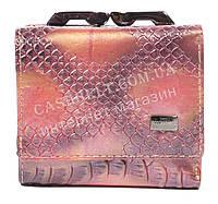 Маленький лаковый женский кожаный кошелек высокого качества BODENSCATZ art. 2186-A81 розовый
