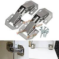 2шт 90° скрыты кухонный шкаф шкаф весной дверные петли с помощью винтов