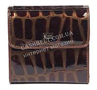 Оригинальный лаковый женский кожаный кошелек высокого качества COZZNEE art.38209 коричневый