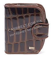 Оригинальный лаковый женский кожаный кошелек высокого качества COZZNEE art.38301 коричневый