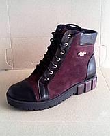 Ботинки кожаные женские осень-весна 36, 37, 38, 39, 40, 41 размеры, фото 1