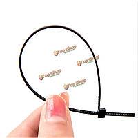 100шт нейлона кабельные стяжки длинный провод самоблокирующимся Lightning облицовку обертка