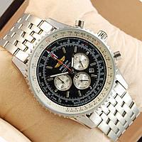 Стальные часы BREITLING - Navitimer с хронографом, цвет корпуса серебро