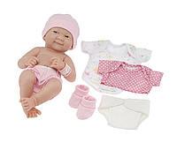 Пупс, новорожденный малыш «La Newborn» с дополнительным набором одежды. JC Toys designed by Berenguer., фото 1