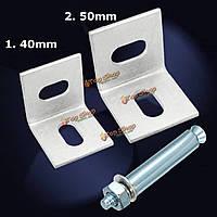 Металлический угловой скобки совместное правой угловой скобки Полкодержатель застежка