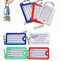 15шт пластиковые ассорти теги идентификатор языка имя карты ФОБ этикетки брелок для ключей
