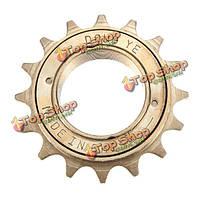 BMX велосипед односкоростной фривил 16т зуба звездочки коричневый