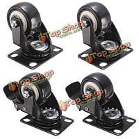 4шт 50мм сменные металлические поворотные копирующие колеса тележки МНЛЗ колеса