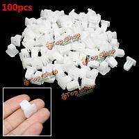 100шт белые фиксирующие пластиковые бампера клипы кнопку заклепки