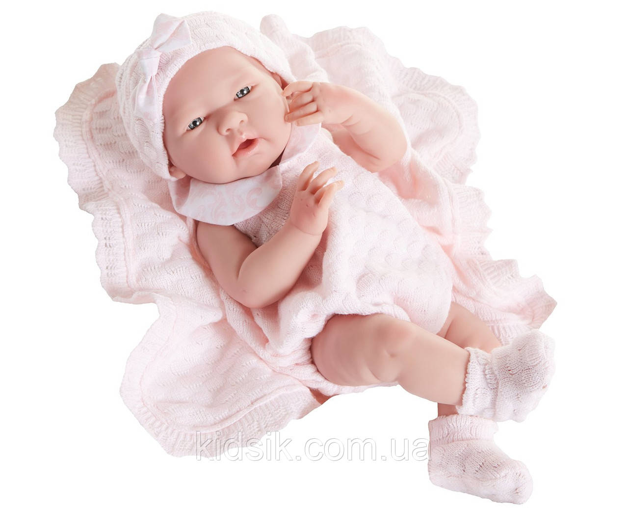 Пупс, новорожденная девочка Роза, кукла в конверте с аксессуарами Berenguer Boutique, 39 см., фото 1