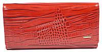Оригинальный матовый женский кожаный кошелек высокого качества SALFEITE art.2030T-G13 красный