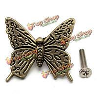 Бабочки шкафа ручки кухонная мебель ящика ручку тянуть с винтами