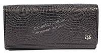 Оригинальный матовый женский кожаный кошелек высокого качества KRIOKA art.KA3001-3065-1 черный