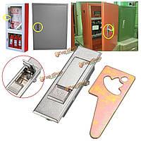 Серебряный тон металла электрический шкаф толчок самолет кнопку безопасности с замком
