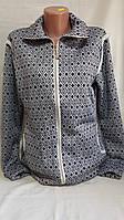 Кофта для женщин на меху, на молнии, с карманами, 46-52 р-ры, 345/325 (цена за 1 шт. + 20 гр.)