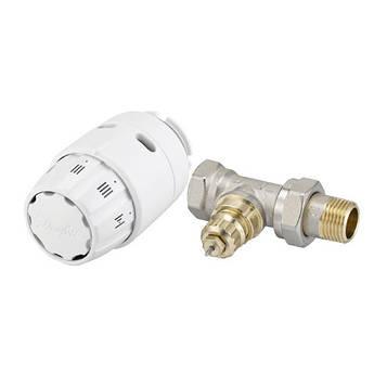 Клапан с термоголовкой 1/2 прямой danfoss