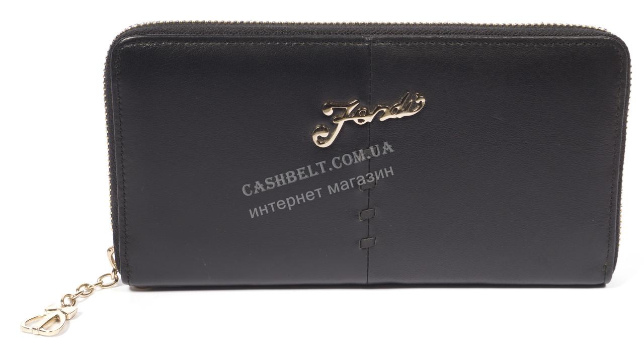 Стильный женский кожаный кошелек-барсетка высокого качества art. FD-233 A 05 черный