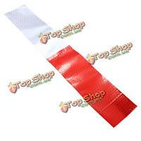 30X4.6см DIY красный белый отражающий предупреждение безопасности светоотражающими ленты пленка наклейка