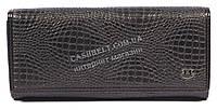 Оригинальный матовый женский кожаный кошелек высокого качества KRIOKA art.KA3001-3066-1 черный