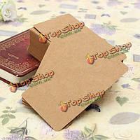 100шт крафт-бумага крафт-картон карточка пустое слово карта сообщение карта