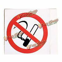 6шт не курить запрещающий знак предупреждающие стикеры 75*75мм