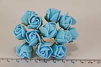 Роза мелкая искусственная голубая (букет) 5632-1-3-1