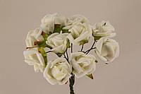 Роза искусственная белая (букет) 5632-1-4-1
