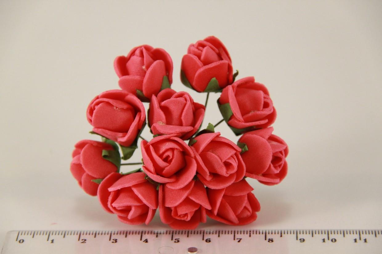 Роза мелкая искусственная красная (букет) 5632-1-3-1  - Продавайка в Харькове
