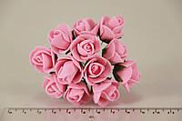 Роза мелкая искусственная розовая (букет) 5632-1-3-1