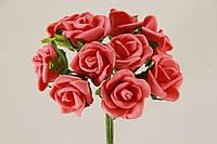 Роза искусственная  красная (букет) 5632-1-4-1