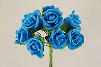 Роза искусственная  синяя (букет) 5632-1-4-1