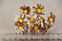 Ромашка искусственная коричневая (букет) 5634-1-11