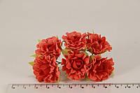 Роза чайная искусственная красная (букет) 5634-1-12