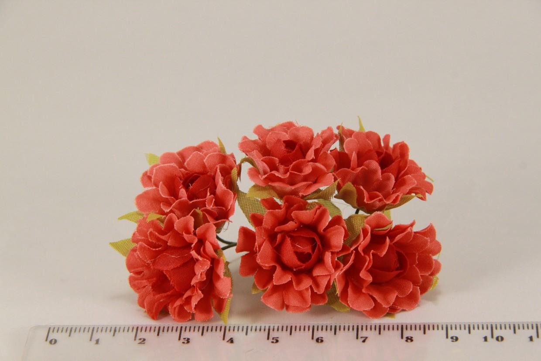 Роза чайная искусственная красная (букет) 5634-1-12 - Продавайка в Харькове
